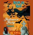 halloween horror night party poster design vector image