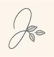 handwritten letter j monogram or logo brand vector image vector image