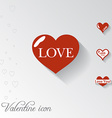 Heart icon Valentine greeting card vector image vector image