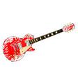 ink splatter guitar vector image vector image