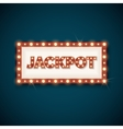 Jackpot banner with retro luminous frame vector image vector image