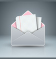 letter and mail icon abstract 3d template vector image