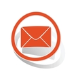 Letter sign sticker orange vector image