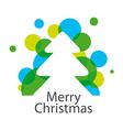 logo abstract Christmas tree vector image vector image