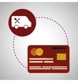 Menu design credit card icon restaurant concept vector image