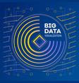 modern big data banner outline style vector image