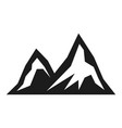 mountain tourism black icon hiking scenery view vector image vector image
