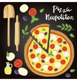 Neopolitan Pizza with vector image