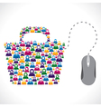 online shopping bag vector image vector image