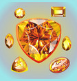 opal different shape and cut vector image vector image