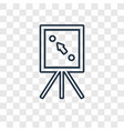 plan concept linear icon isolated on transparent vector image vector image