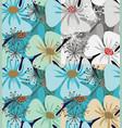 poppy flowers elegant vector image vector image