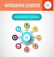 process chart infographics4 vector image vector image