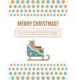 santa sleigh gifts card vector image vector image