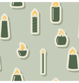 Seamless background with candle vector image vector image