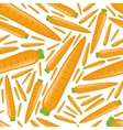 seamless carrot pattern vector image