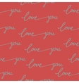 Seamless pattern calligraphy love you vector image vector image