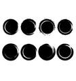 set grunge circles from brush strokes design vector image