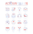 set line flat icons of accounting vector image vector image