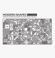 set minimal modern shapes vector image
