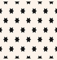 simple geometric seamless pattern with star vector image vector image