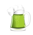 Single circle with green beer vector image