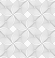 Slim gray twisted shapes in turn vector image vector image