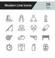sport icons modern line design set 28 for vector image vector image