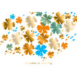 stylized autumn floral pattern vector image