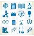 symbols education vector image