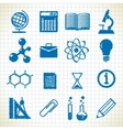 symbols of education vector image vector image