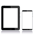 tablet pc and smart phone vector image vector image