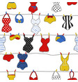 trendy seamless pattern with cute swimsuits vector image