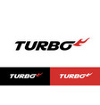 turbo sticker badge decal vector image