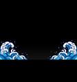 water wave ornamental corner background vector image vector image