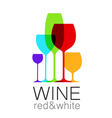 wine red white template logo vector image vector image