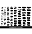Set of black paint ink brush strokes vector image