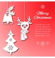 Various Christmas decorations such as a bell with vector image