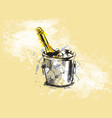 colored hand sketch champagne vector image