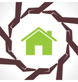 Protect home concept vector image
