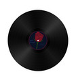 gramophone vynil record in retro style with vector image
