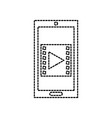 mobile phone technology movie video button digital vector image