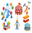 Amusement Park Isometric Decorative Icons vector image vector image