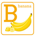 An alphabet with cute fruits letter b banana