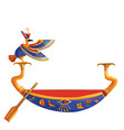 ancient egypt wooden boat for sun god trip vector image vector image