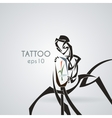 Android with a plant in the flask Tattoo vector image