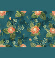 art floral seamless pattern vector image vector image