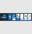 banking mobile app ui ux kit vector image