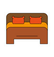bed frontview icon image vector image vector image