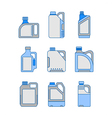 Blank Plastic Canisters flat icons vector image